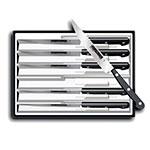Victorinox - Swiss Army 46799 6-Piece Steak Knife Set w/ Pointed Tip, Serrated, Black Handles