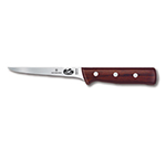 "Victorinox - Swiss Army 40014 Narrow Boning Knife w/ 5"" Flexible Blade, High Carbon Steel, Rosewood Handle"