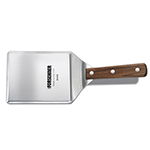 "Victorinox - Swiss Army 40408 Hamburger Turner w/ Peggable Sheath, 5x6"", Wood Handle, Stainless"