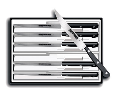 Victorinox - Swiss Army 46799 6-Piece Serrated Steak Knife Set w/ Pointed Tip, Black Nylon Handle