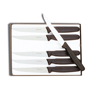 Victorinox - Swiss Army 47650 6-Piece Wavy Edge Steak Knife Set w/ Pointed Tip