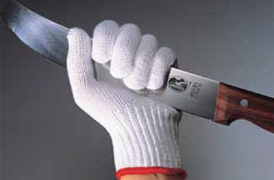 Victorinox - Swiss Army 81614 X-Small Cut Resistant Glove w/ White Wrist Band, 7-Gauge, Gray