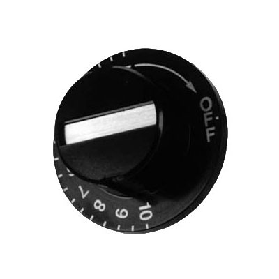 Franklin Machine 126-4010 Thermostat Dial for Metro Holding/Proofer Cabinets - Plastic, Black