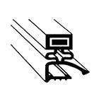 "Franklin Machine 128-1020 Gasket for Hobart Reach-In Refrigerators & Freezers, 24.38"" x 25.38"""