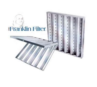 Franklin Machine 129-1111 Hinged Baffle Filter, 16x20-in, Stainless