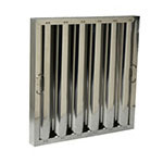 "Franklin Machine 129-1274 Type VI Baffle Filter - Nominal Size, Heavy Duty, 20x20x2"", Aluminum"