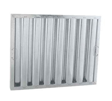 "Franklin MacHine 129-1289 Type VI Baffle Filter - Nominal Size, Heavy Duty, 20x20"", Galvanized"
