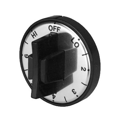 Franklin Machine 130-1010 Infinite Control Dial for Food Warmers & Heat Lamps - Plastic, Black