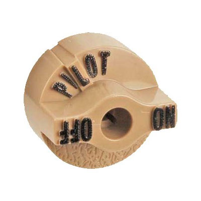 Franklin Machine 130-1090 Valve Knob for Fryers & Pasta Coolers - Plastic, Beige