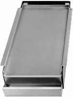 "Franklin Machine 1331002 11"" Griddle Top - Covers (2) Burners, Nickel Plated Steel"