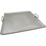 "Franklin Machine 133-1627 Lift-Off Griddle, Fits Four Burners, 23"" x 23"", Steel"