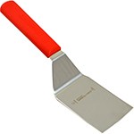 "Franklin Machine 137-1372 Hamburger Turner, 4"" x 3"" Stainless Blade, Red Handle"