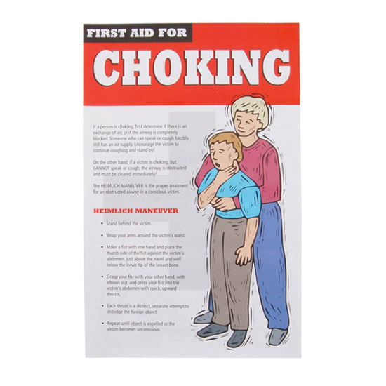 "Franklin Machine 142-1519 Heimlich Maneuver Poster - 17.5"" x 11.25"", Laminated"