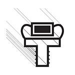"Franklin Machine 145-1054 Push-In Gasket for Randell Dual-Temp Refrigerator/Freezer, 26"" x 27.5"""