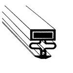 "Franklin Machine 145-1061 Door Gasket for Randell 42048AM, 16.13"" x 20.63"""