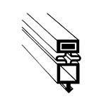 "Franklin Machine 148-1003 Gasket for True Reach-In Freezers, 24.63"" x 54.25"""