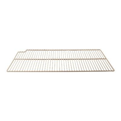 "Franklin Machine 148-1068 Left-Side Epoxy-Coated Wire Shelf for True Refrigerators & Prep Tables - 16"" x 27.5"", White"