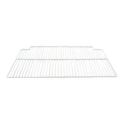 "Franklin Machine 148-1070 Center Epoxy-Coated Wire Shelf for True Refrigerators & Prep Tables - 16"" x 23.5"", White"
