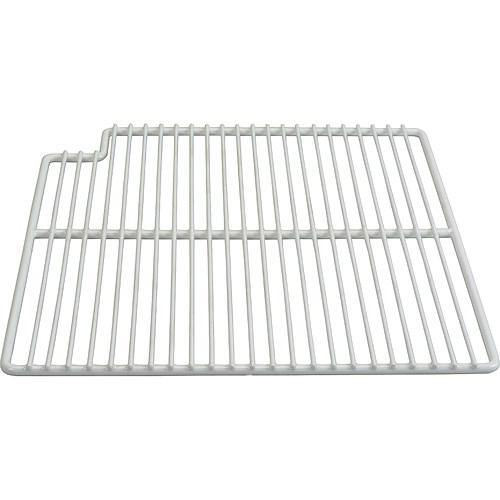 "Franklin Machine 148-1161 Left-Side Wire Shelf for True TSSU-36 Prep Tables - 15.56"" x 16"", White"