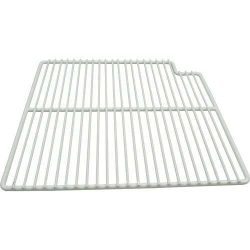 "Franklin Machine 148-1162 Right-Side Wire Shelf for True TSSU-36 Prep Tables - 15.56"" x 16"", White"