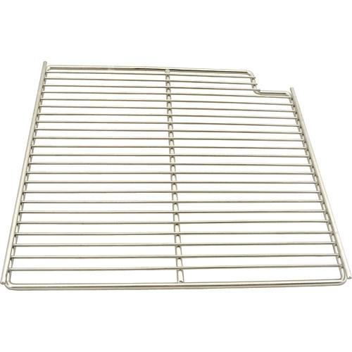 "Franklin Machine 148-1163 Right-Side Wire Shelf for True TSSU-36 Prep Tables - 15.56"" x 16"", Stainless"