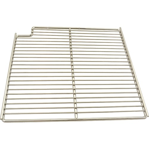 "Franklin Machine 148-1164 Left-Side Wire Shelf for True TSSU-36 Prep Tables - 15.56"" x 16"", Stainless"