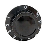 "Franklin Machine 160-1262 2"" Control Dial for APW Wyott HDD Series Heated Cabinets, Black"