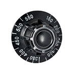 Franklin Machine 162-1004 Thermostat Dial w/ 150° to 550°F Range for Garland Ovens - Plastic, Black