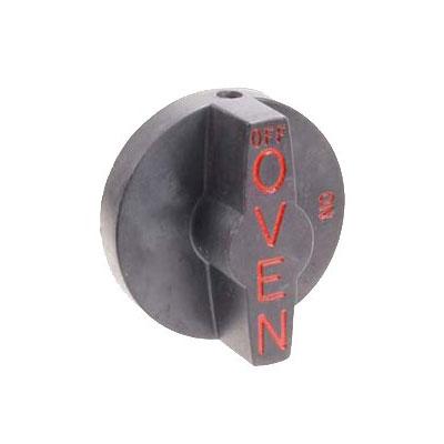 Franklin Machine 166-1068 Valve Knob for Southbend Ovens, Ranges, & Broilers - Plastic, Black