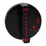Franklin Machine 166-1143 Burner Knob for Southbend Ovens & Ranges - Plastic, Black/Red