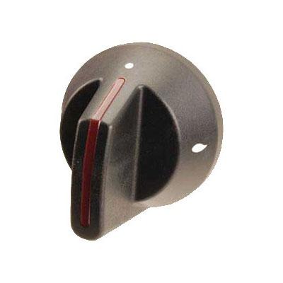 """Franklin Machine 166-1149 2.5"""" Open Burner Knob for Southbend Ovens & Ranges - Plastic, Black"""