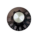 Franklin Machine 166-1236 Thermostat Dial w/ 200° to 550°F Range for Southbend SE36 Models - Plastic, Black