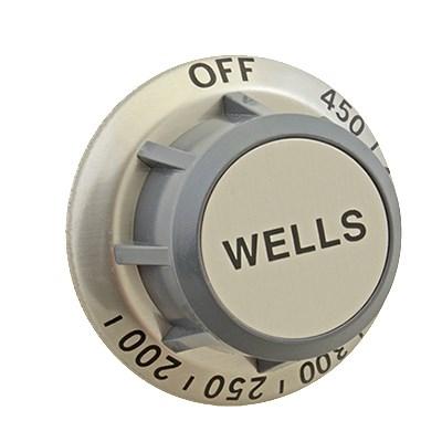 "Franklin Machine 173-1003 2.38"" Thermostat Knob for Wells Griddles & Ranges - Plastic, Gray"