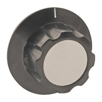 "Franklin Machine 175-1070 2"" Control Knob for Ovens, Fryers, & Warmers - Plastic, Black"