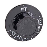 Franklin Machine 183-1142 Thermostat Dial w/ 100° to 200° Range for Roundup CC-19 - Plastic, Black