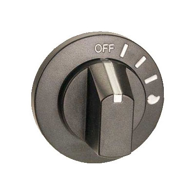 "Franklin Machine 184-1084 2.5"" Broiler Knob for Bakers Pride XX Series Charbroilers, Black"