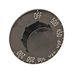Franklin Machine 187-1101 Thermostat Dial w/ 200° to 500° Range for Blodgett Ovens - Plastic, Black