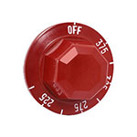Franklin Machine 194-1106 Thermostat Dial w/ 225° to 375° Range for Cecilware Fryers - Plastic, Red