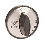 "Franklin Machine 197-1036 2"" Burner Control Knob for Duke Aerohot & Thurmaduke Warmers - Plastic, Black"