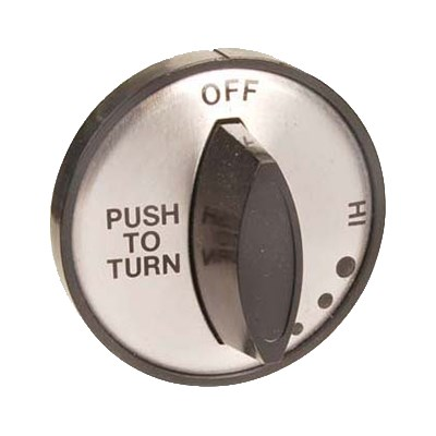 "Franklin Machine 197-1036 2"" Burner Control Knob for Duke Aerohot & Thurmaduke Warmers - Plastic, Black"