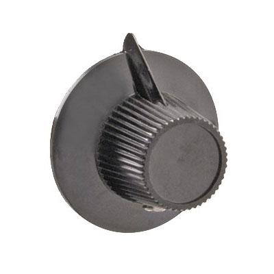 "Franklin Machine 202-1013 1.13"" Knob for Hobart Toasters - Plastic, Black"