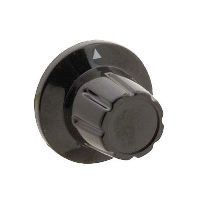 "Franklin Machine 204-1259 1.38"" Control Knob for TPT-120 Toaster - Plastic, Black"