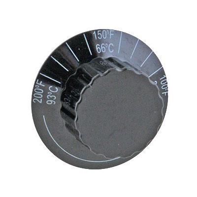 "Franklin Machine 217-1029 1.5"" Thermostat Knob for Server Food Warmers, Pumps, & Dispensers - Plastic, Black"