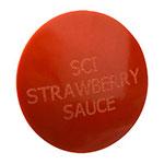 "Franklin Machine 217-1088 1.75"" Strawberry Dispenser Knob for Server Condiment Pumps, Red"