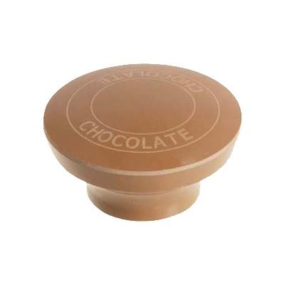 "Franklin Machine 217-1090 1.75"" Chocolate Dispenser Knob for Server Condiment Pumps, Brown"