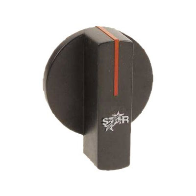 Franklin Machine 218-1285 Temperature Control Knob for Star Griddles & Ranges - Black/Red/White