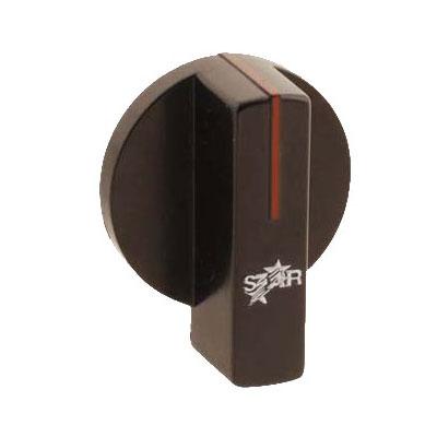 "Franklin Machine 218-1294 2.25"" Thermostat Knob for Star 515, 524, 536, & 548 Griddles - Plastic, Black"