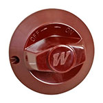 "Franklin Machine 220-1387 2.5"" Oven Knob for Wolf & Vulcan Ovens & Ranges, Maroon"