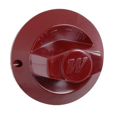 Franklin Machine 220-1396 Burner Valve Knob for Wolf Ovens & Ranges, Red