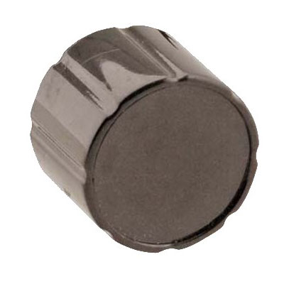 "Franklin Machine 222-1391 1"" Left Knob for Waring Toasters - Plastic, Black"